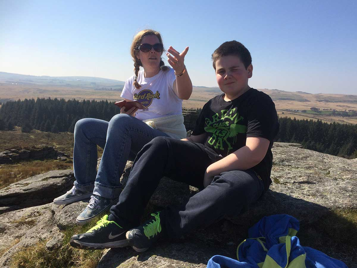Dartmoor with my Sister and Nephew - Transgender Artist and Model Sophie Lawson