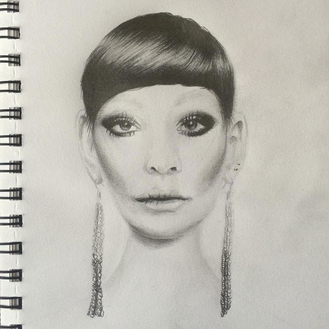 Graphite Pencil Female Portrait Sketch, from Sophie's Sketchbook, by Artist Sophie Lawson