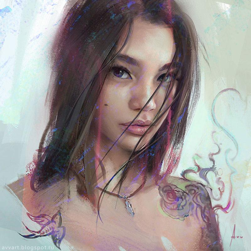 Camila by Artist Aleksei Vinogradov