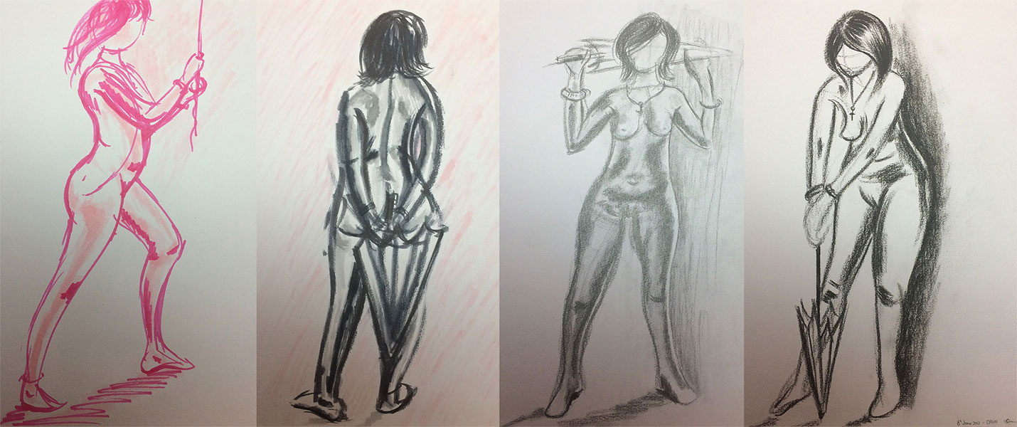 Life Drawing with Ian Barlow, Quick Sketches by Artist Sophie Lawson