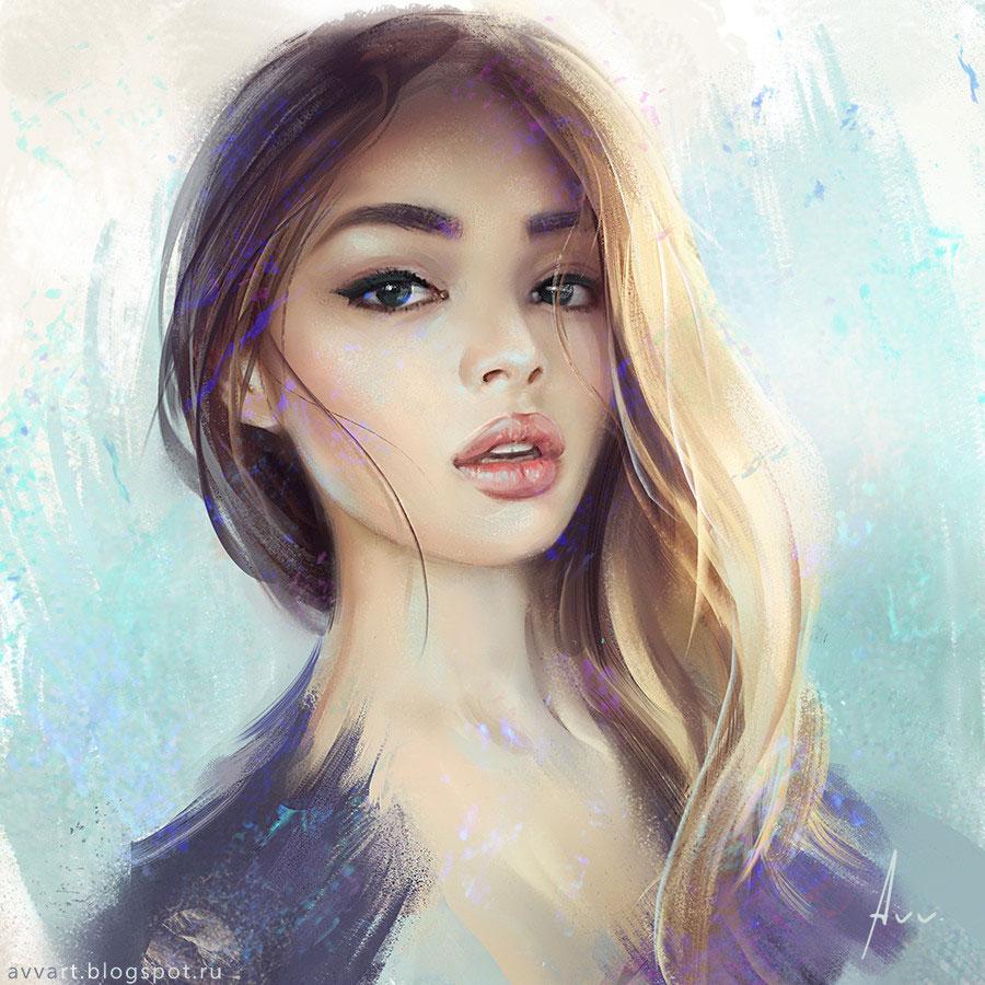 Lily by Artist Aleksei Vinogradov
