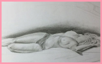 LONG POSE LIFE DRAWING SKETCH