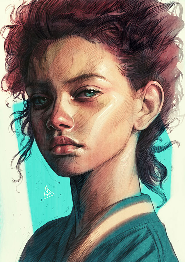 Inspirational Digital Painting entitled CHILD, by Artist Aykut Aydoğdu