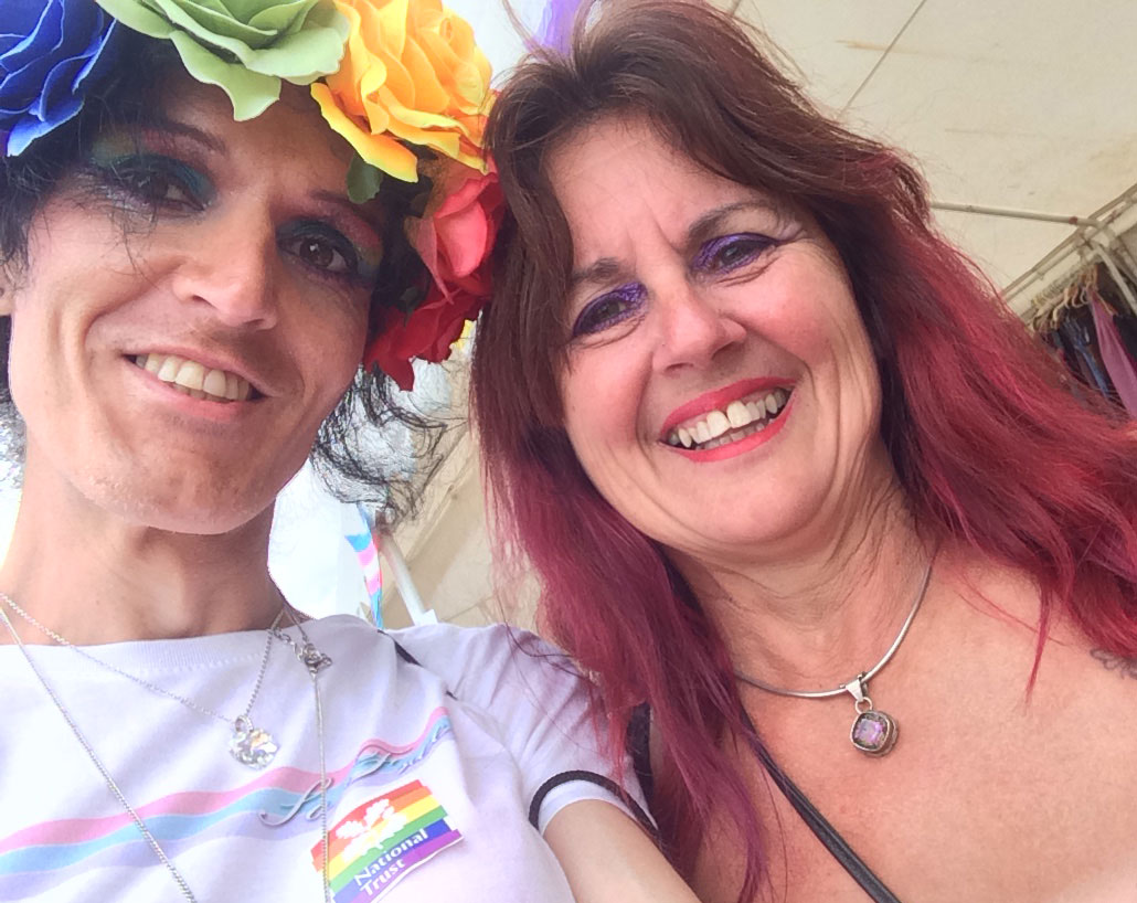 Selfie with Pixie from Safe Haven :) - Plymouth Pride 2017, by Transgender Artist Sophie Lawson