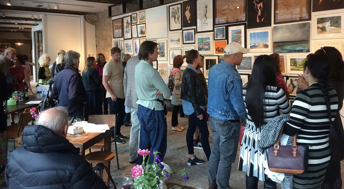 Plymouth Arts Club Autumn Art Exhibition 2017 Preview Event; Column Bakehouse Café, Royal William Yard, Plymouth