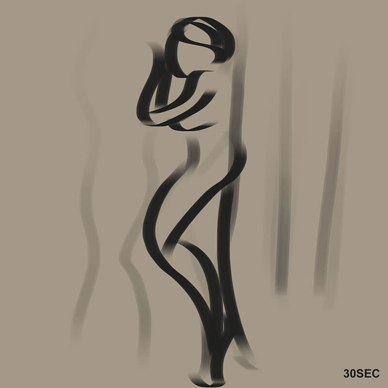 Learning Digital Painting Day 005 - Gesture Drawing