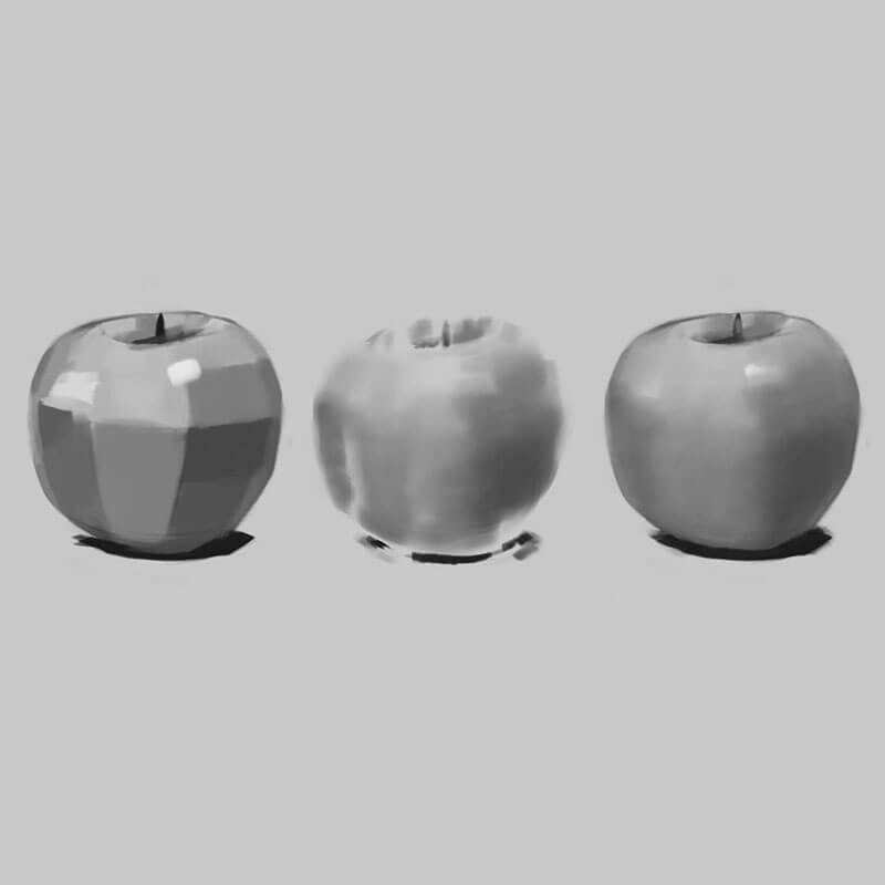 Learning Digital Painting Day 017 - Blend an Apple with the Brush Tool