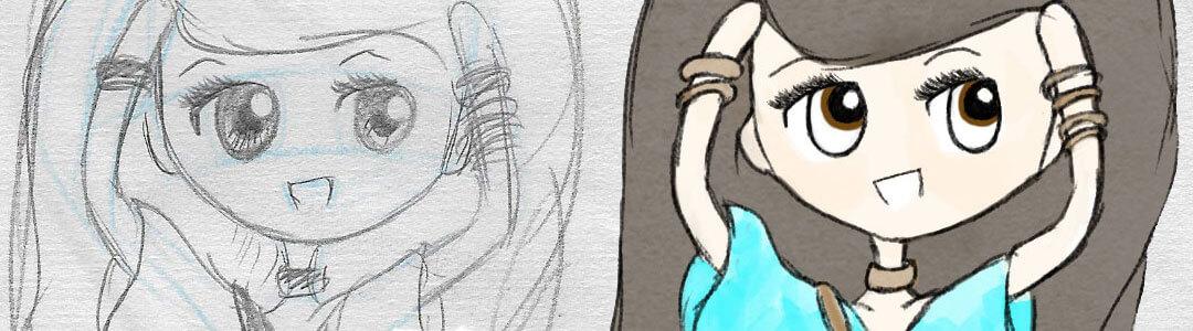 The Digital Dream Week Six - Chibi Sketching, Chibi Sketching and more Chibi Sketching. Learning Digital Painting with Transgender Artist Sophie Lawson