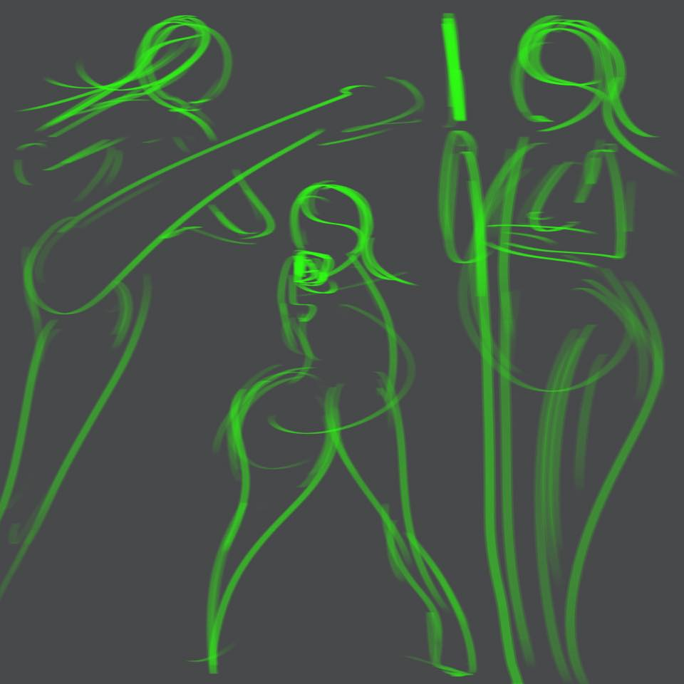 Gesture Drawing - Learning Digital Painting with Transgender Artist Sophie Lawson