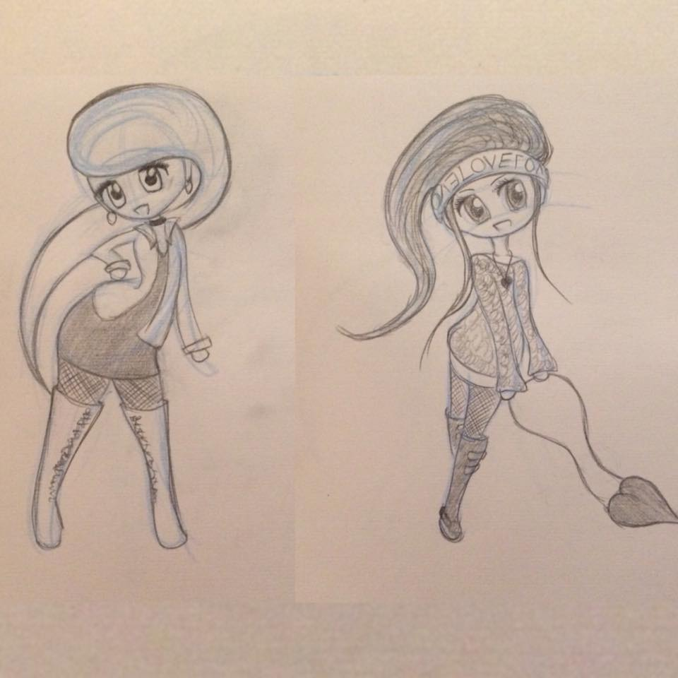 lilSOPHIE Chibi Character Sketches - Learning Digital Painting with Transgender Artist Sophie Lawson