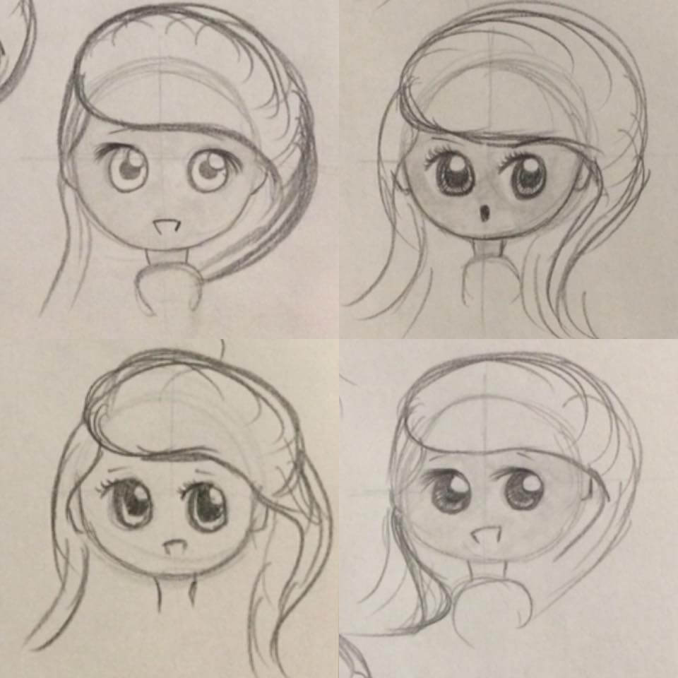 lilSOPHIE Female Chibi Character Eye Sketches - Learning Digital Painting with Transgender Artist Sophie Lawson