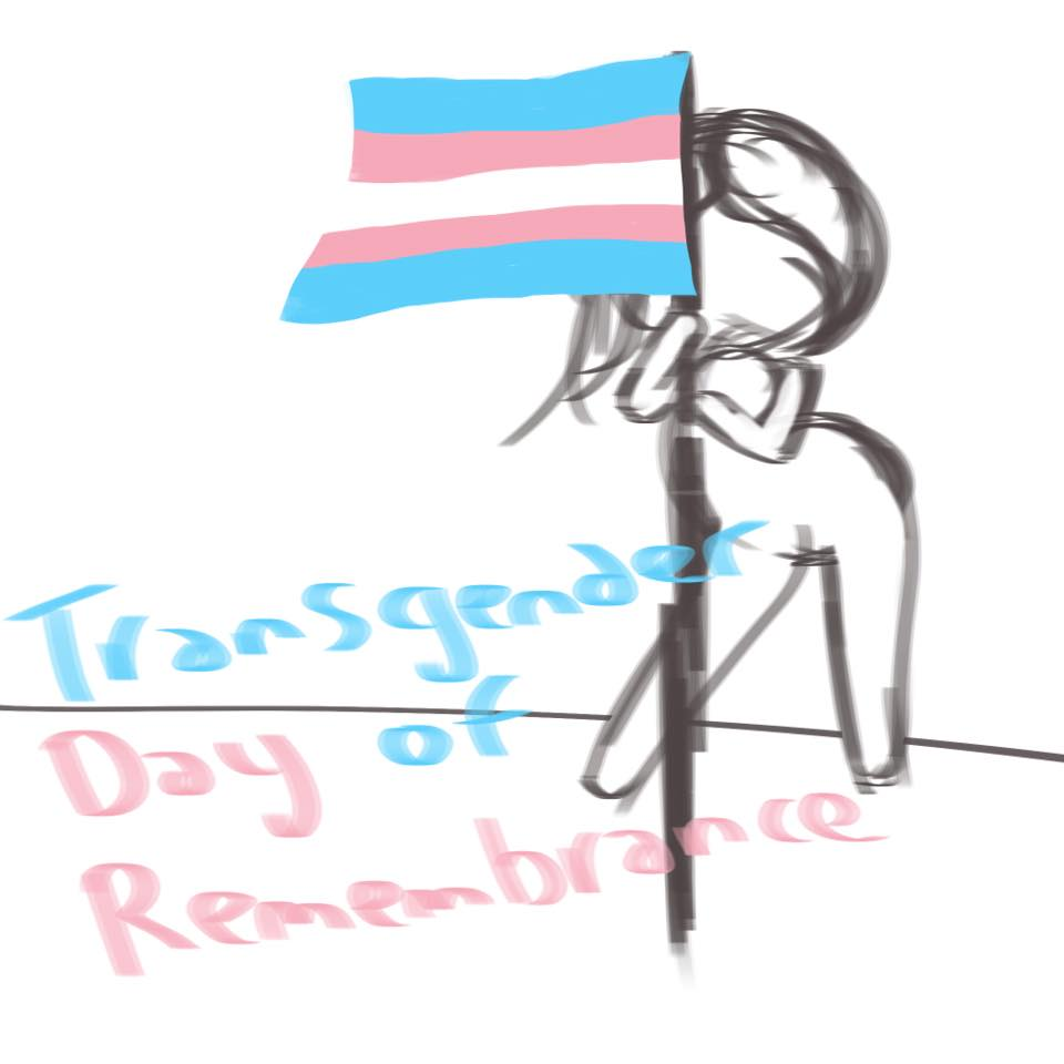 Transgender Day of Remembrance Chibi Sketch - Learning Digital Painting with Transgender Artist Sophie Lawson