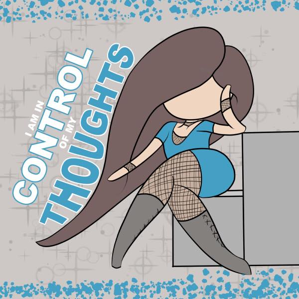 lilSOPHIE clip Studio Paint Chibi Sketch - Daily Affirmation - I Am In Control Of My Thoughts; Learning Digital Painting with Transgender Artist Sophie Lawson