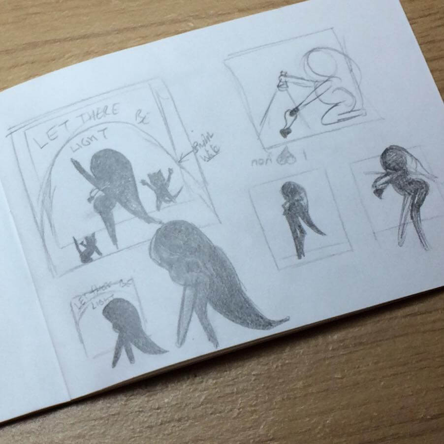 lilSOPHIE Pencil Thumbnails; Learning Digital Painting with Transgender Artist Sophie Lawson