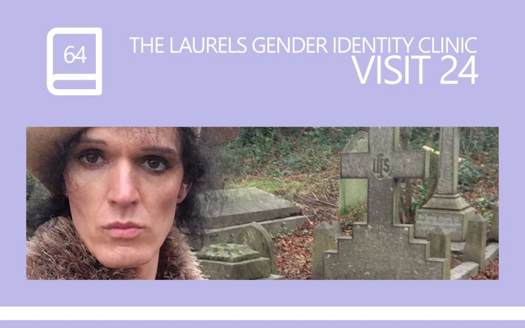 The Laurels Gender Identity Clinic Visit 24 - The 'Mint Angel' visit … we spoke about Genital Reassignment Surgery, Drawing, and Christmas, with Transgender Model & Artist Sophie Lawson