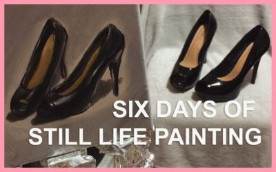 SIX DAYS OF HIGH HEELS STILL LIFE PAINTING: 30 IN 30 PAINTING CHALLENGE, DAYS 7 TO 12