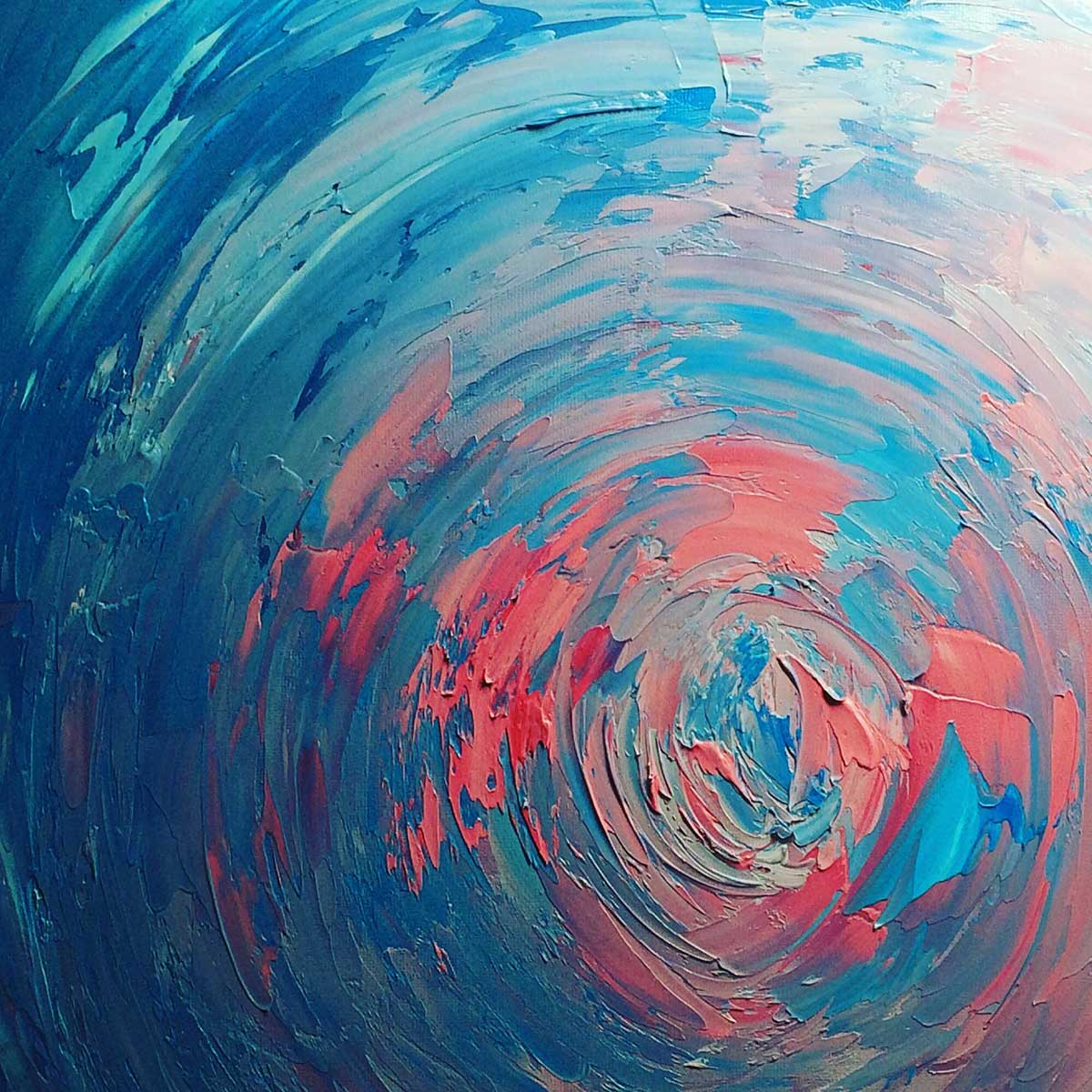Merging, Blue and Pink Oil Abstract Painting: 30 in 30 Painting Challenge 2018, with Transgender Artist Sophie Lawson