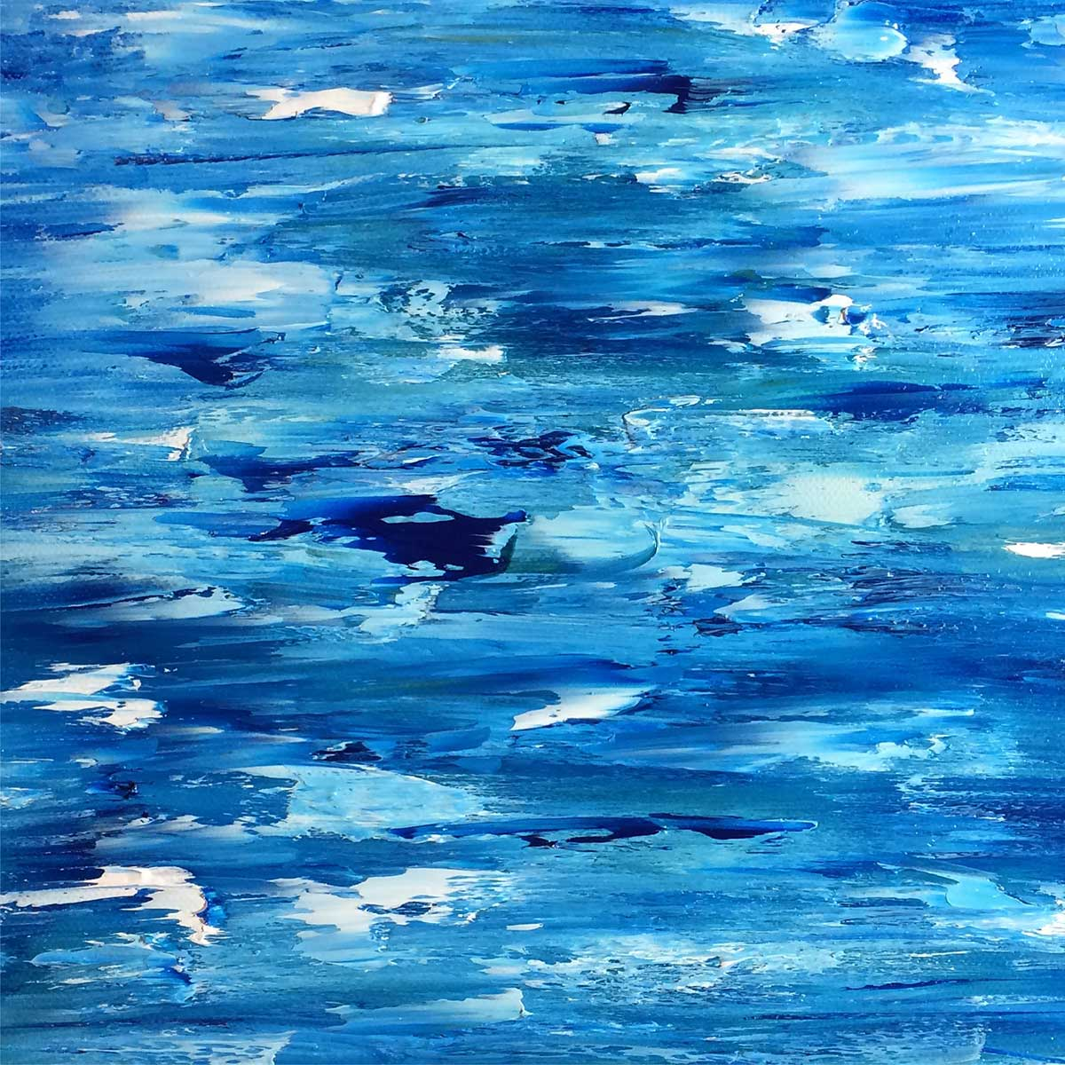 Diverging, Blue Water Ocean Oil Abstract Painting: 30 in 30 Painting Challenge 2018, with Transgender Artist Sophie Lawson