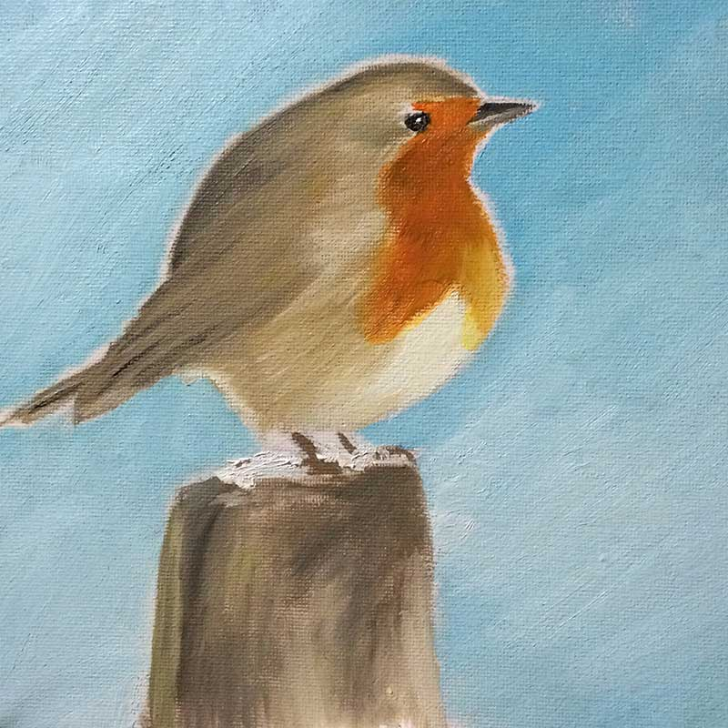Robin Painting 2 : 30 in 30 Painting Challenge 2018, with Transgender Artist Sophie Lawson