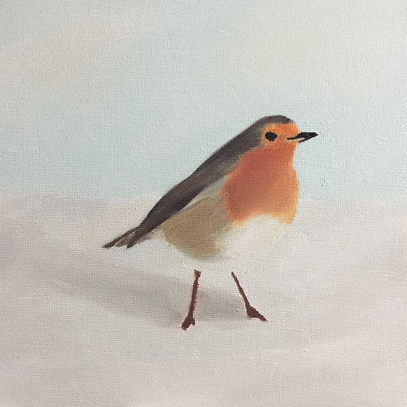Robin Painting 3 : 30 in 30 Painting Challenge 2018, with Transgender Artist Sophie Lawson