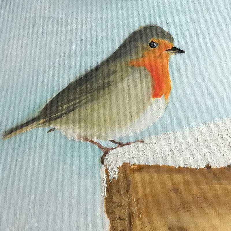 Robin Painting 4 : 30 in 30 Painting Challenge 2018, with Transgender Artist Sophie Lawson