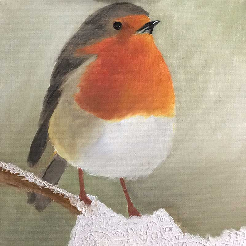 Robin Painting 5 : 30 in 30 Painting Challenge 2018, with Transgender Artist Sophie Lawson