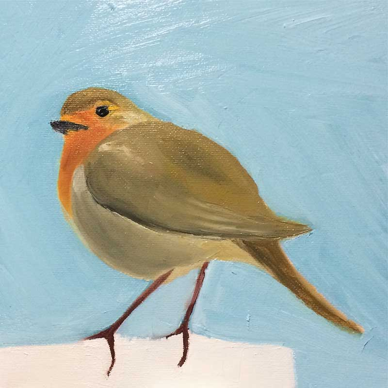 Robin Painting 6 : 30 in 30 Painting Challenge 2018, with Transgender Artist Sophie Lawson