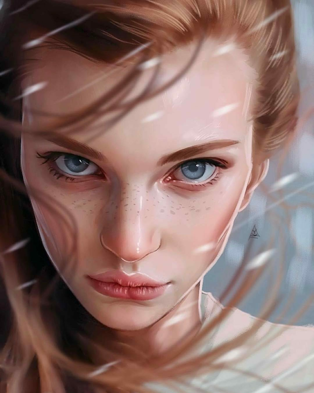 Inspirational Digital Painting of Anna Grekova, by Artist Aykut Aydoğdu