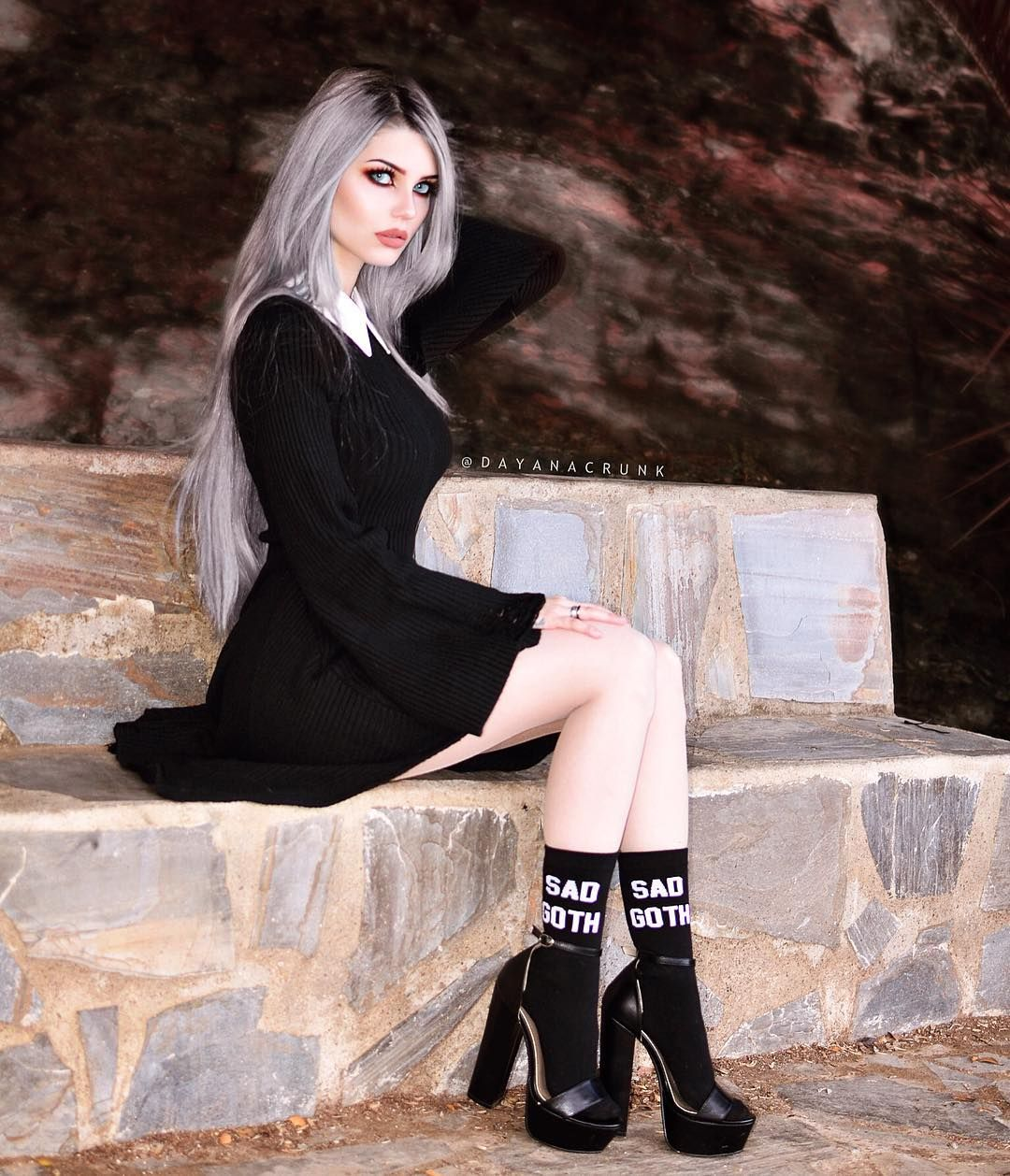 Goth Girl and Inspirational Gothic Model, Dayana Crunk 'Melgares'
