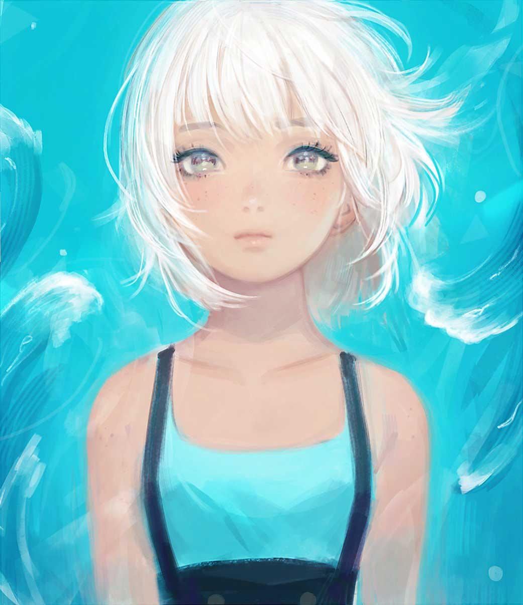 Inspirational Digital Painting entitled Waves, by Digital Artist Vioriie aka Rose