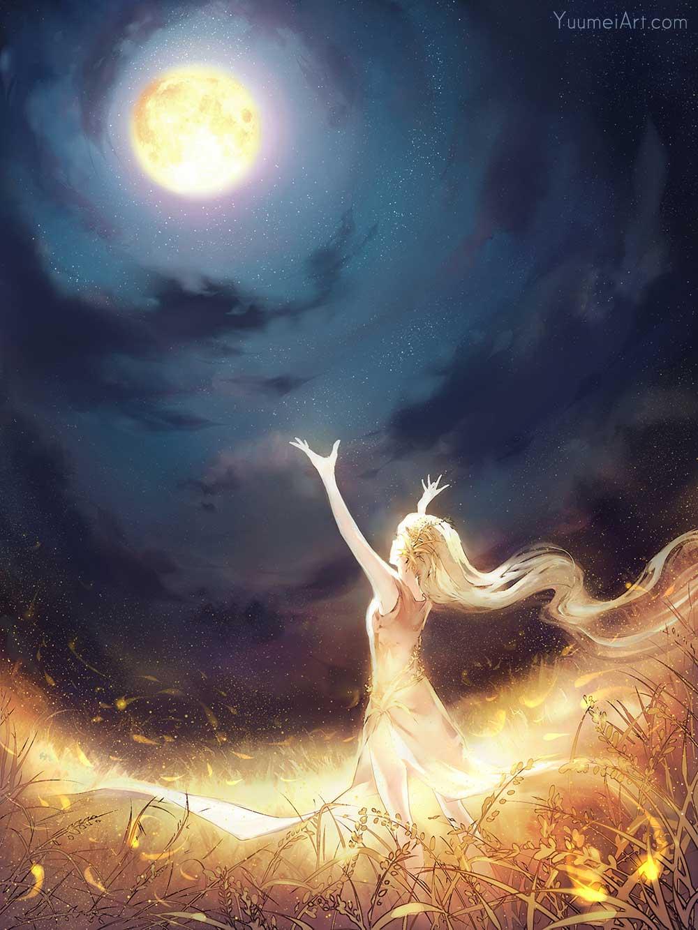 Moon Catcher by Artist Wenqing Yan, aka Yuumei