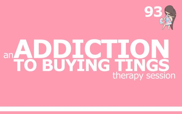 An Addiction to Buying Tings Therapy Session : Episode 93 of the So Free Art Podcast, with Transgender Artist Sophie Lawson