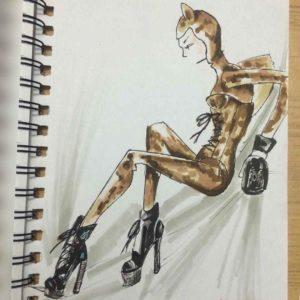 COPIC MARKERS FIGURE SKETCH FROM A KYLIE MINOGUE BOOK