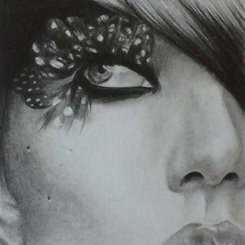 Mini Drawing in Graphite Pencil by Transgender Artist Sophie Lawson