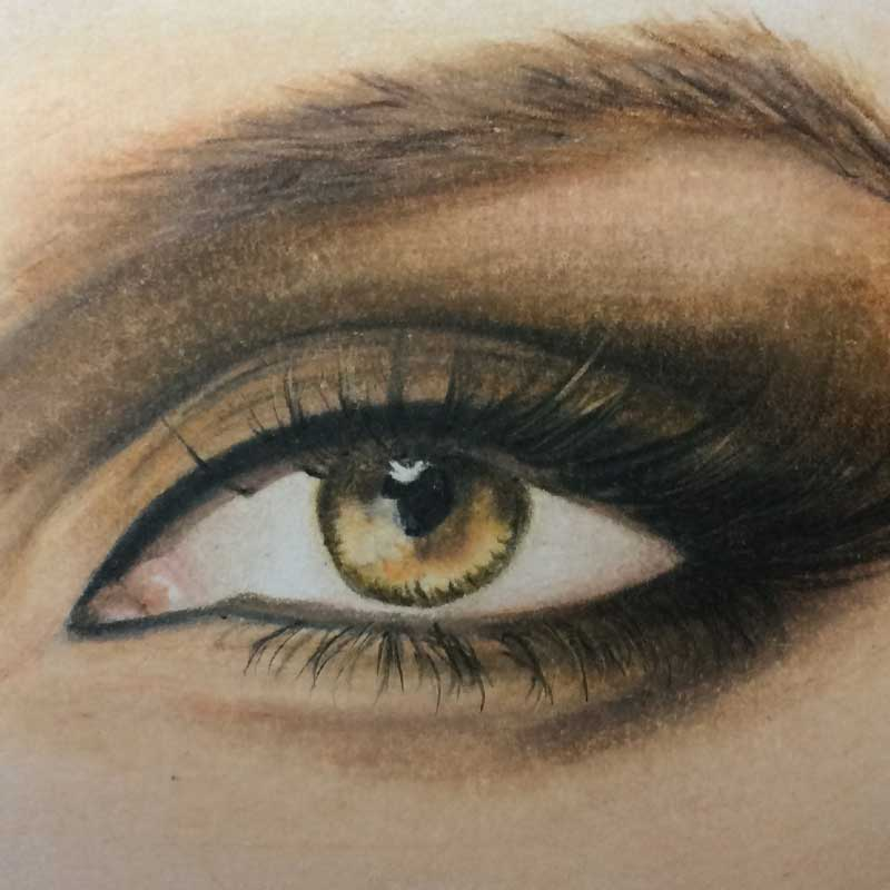 Mini Drawing in Prismacolor Premier Colored Pencils by Transgender Artist Sophie Lawson