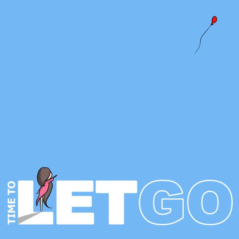 Affirmation 2 - Time To Let Go, with lilSOPHiE - Digital Painting by Transgender Artist Sophie Lawson