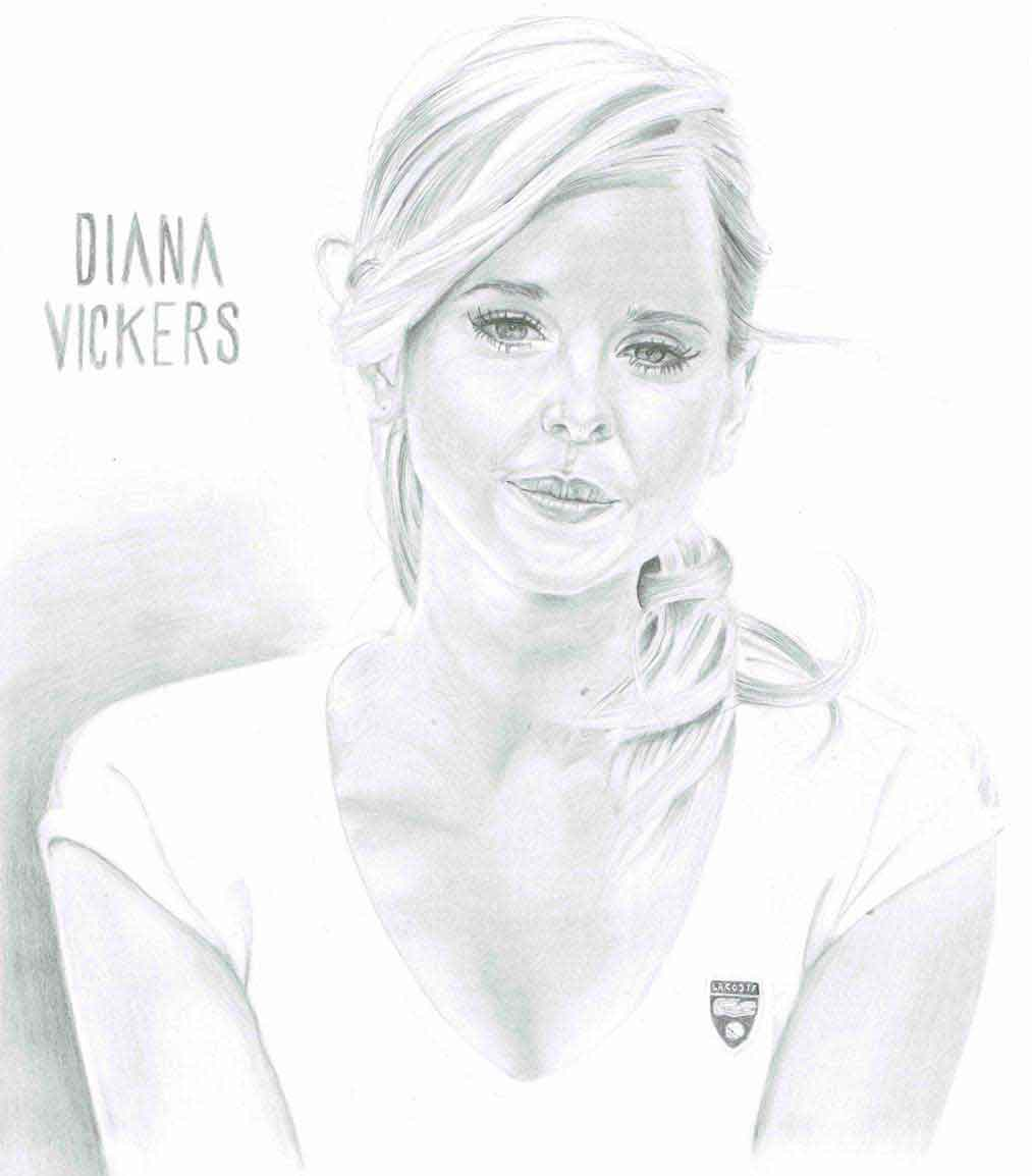 Realistic Pencil Drawing of Singer Diana Vickers, by Transgender Artist Sophie Lawson