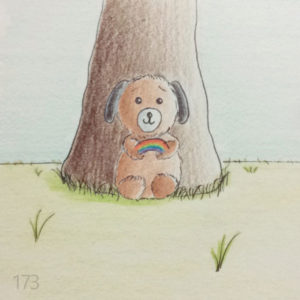 lilDENNiS doggy Character, by Transgender Art Sophie Lawson