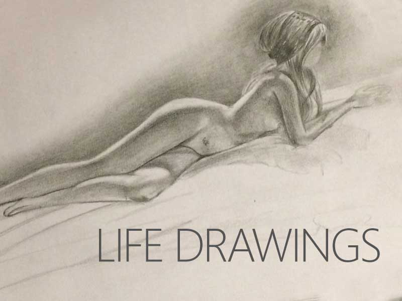 Life Drawings by Transgender Artist Sophie Lawson, Both Long and Short Poses