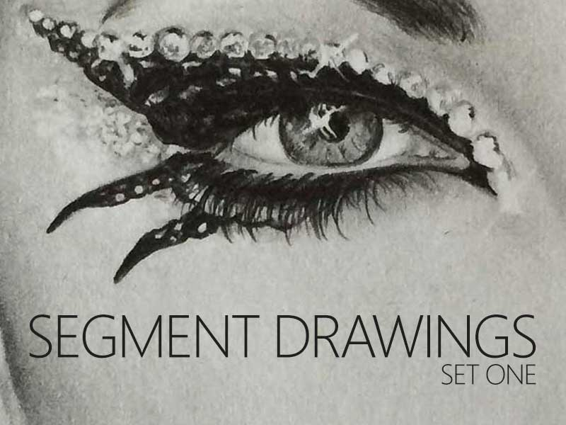 Segment Drawing Set One, in Graphite Pencil by Transgender Artist Sophie Lawson