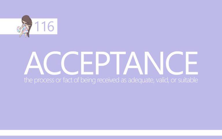 116 • ACCEPTANCE
