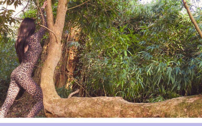 ROXY LEOPARD PRINT CATSUIT