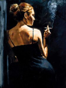 A Sensual Touch in the Dark by Inspirational Artist Fabian Perez