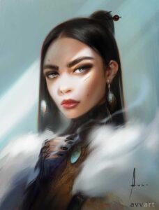Alisha by Artist Aleksei Vinogradov