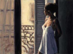 Balcony at Buenos Aires X by Inspirational Artist Fabian Perez