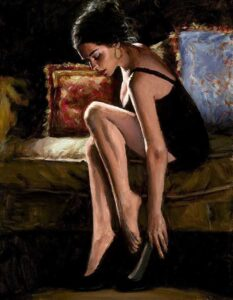 Blue and Red III by Inspirational Artist Fabian Perez