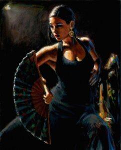 Celina Con Abanico by Inspirational Artist Fabian Perez