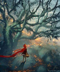 Enchanted Woods by Artist Yuumei, aka Wenqing Yan