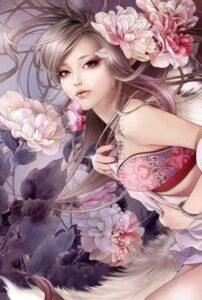 Fox Girl by Artist Zhang XiaoBai