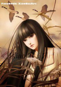 Gaze of Autumn by Artist Zhang XiaoBai